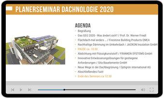 Dachnologie 2020 goes digital: Online-Seminar mit geballtem Fachwissen für Planer